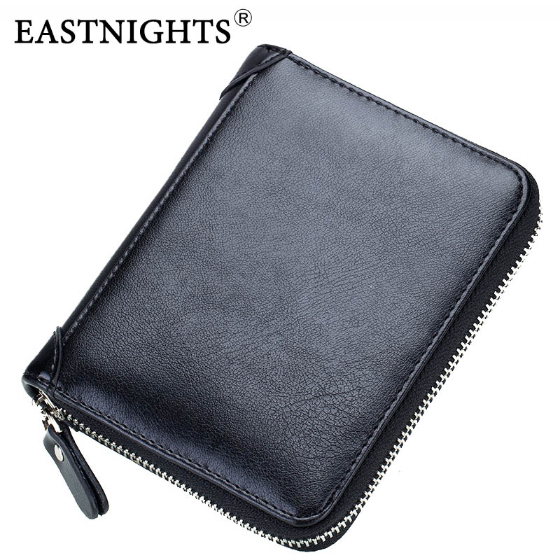 EASTNIGHTS New Leather Men Credit Card Holder Women Bank ID Card Wallet Bussiness Name Card Book Passport Cover 40 Card Sleeves цена 2017