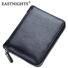 EASTNIGHTS New Split Leather Men Credit Card Holder Women Bank ID Card Wallet Bussiness Name Card Book Passport Cover TW2713