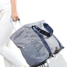 Купить с кэшбэком Oxford Waterproof Large Capacity Packing Cubes 2018 New Fashion Weekender Folding Bag Luggage Travel Bags 30%OFF T517