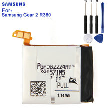 SAMSUNG Original Battery For Samsung Gear 2 SM-R381 R381 R380 Neo SM-R380 300mAh Authentic Replacement Battery цена