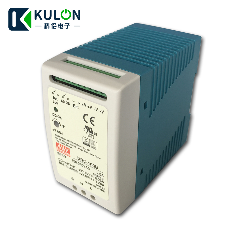 drc 100b - Original MEAN WELL DRC-100B 96W 24-30V AC/DC meanwell din rail security Power Supply with Battery charger(UPS function) DRC-100