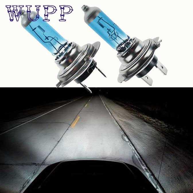 Wupp 2 шт. H7 6000 К ксенон галогенной лампы накаливания белого света 100 W 12 V Nov20 Прямая поставка