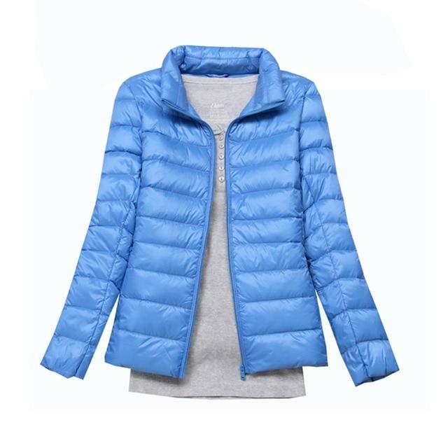 9fe2fb83306 2019 Winter 90% White Duck Down Jacket Women Autumn Slim Warm Coat Lady  Ultralight Long Sleeve Down Coat Jacket Female Windproof
