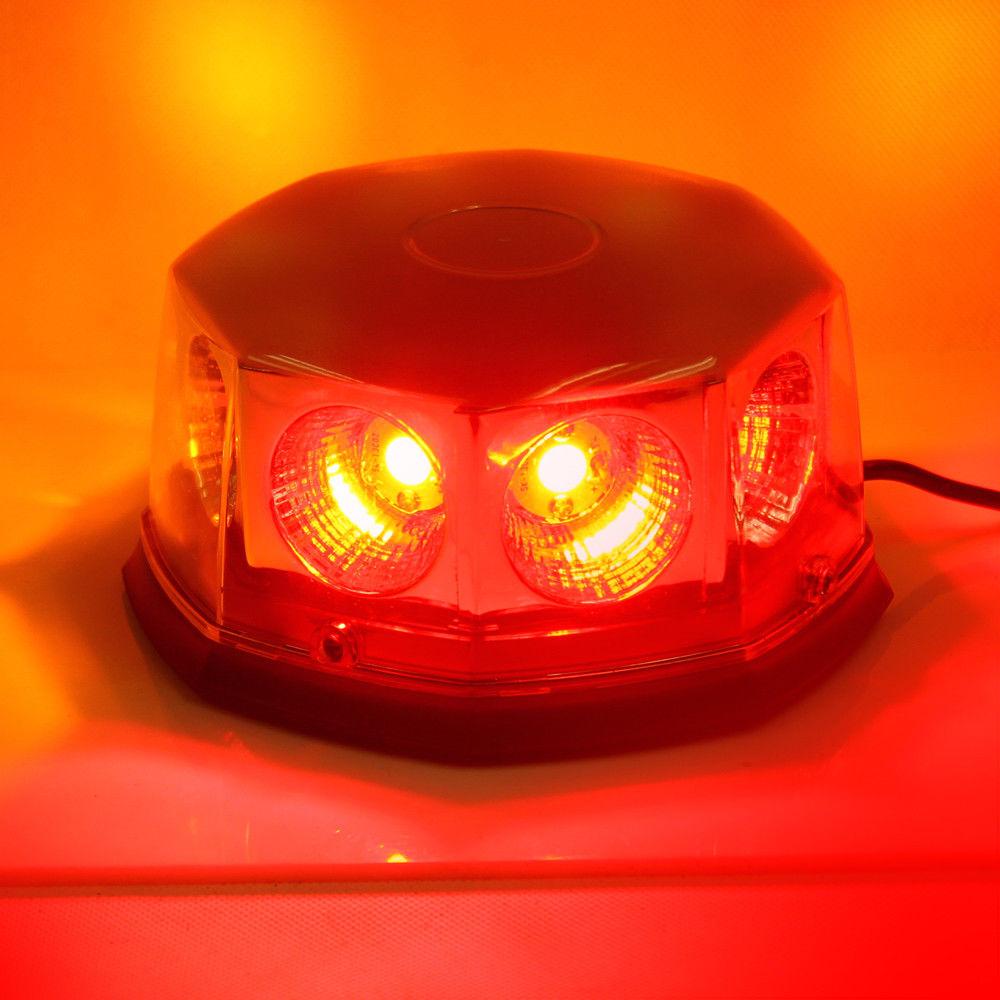 CYAN SOIL BAY 6 Red COB Emergency Hazard Warning Beacon High Power 8 LED Strobe Light new coming led lightbar 240 led 20w beacon light with magnets emergency strobe light bar dc12v led warning light