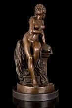 Collectible Statue bronze sculpture Art Nouveau Vienna CLOSEOUT statue Marble Figure Garden Decoration 100% real Brass Bronze