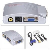 VGA a TV RCA AV Segnale Adattatore Video Converter Switch Box Composito per Computer PC Laptop