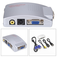 VGA à TV AV RCA Signal Adaptateur Video Converter Switch Box Composite pour Ordinateur PC Portable