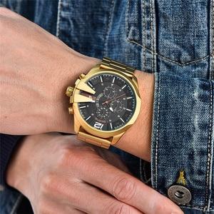 Image 3 - Skone montre de luxe pour hommes, célèbre Design, montre bracelet à Quartz, marque daffaires, chronographe, étanche, doré