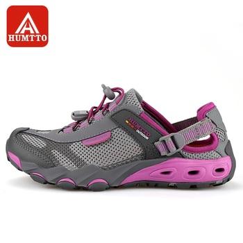 HUMTTO buty trekkingowe damskie Outdoor szybkie suszenie wodoodporne trekkingowe brodząc buty do wody oddychające siatkowe trampki męskie tanie i dobre opinie WOMEN Dobrze pasuje do rozmiaru wybierz swój normalny rozmiar Spring2018 elastyczna opaska Profesjonalne Siateczka (przepuszczająca powietrze)