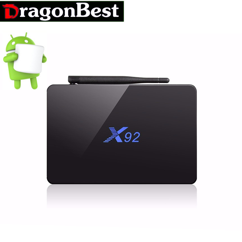 Android 6.0 Smart TV Box Amlogic S912 OCTA Core CPU X92 2GB  16GB  Fully Loaded 5G Wifi 4K H.265 Set Top Box 2017 newest cs918 4 core smart tv box 2g 16g 1080p wifi mini pc fully loaded for android 4 4