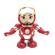 New Hot Avenger Steel Machine Man Dancing Robot Light Electric Music Toy Marvel Series Electric Iron Man Robot(China)