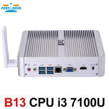 Intel Core i3 7100U причастником мини-компьютер 7TH Gen kaby Lake Win10 безвентиляторный Мини-ПК 4 К HTPC MiniPC NUC Intel HD Графика 620