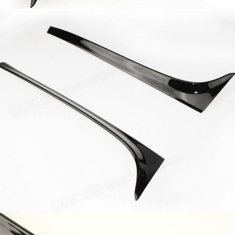 Golf 7 MK7 ABS Non Peint Auto Voiture noir Lèvre de Spoiler Aile pour Volkswagen Golf 7 MK7 2014UP