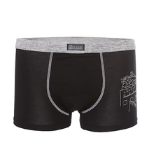 Mens Sexy Printing Modal Underpants Solid Color Casual Boxers Mid-rise U Covex Underwear Plus Size Male Underpants Popular Style