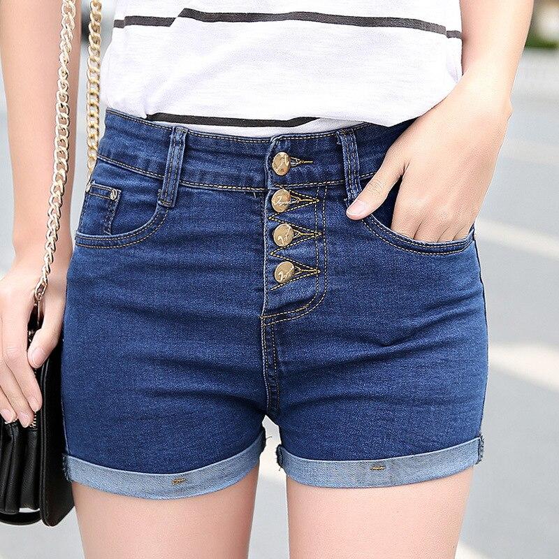 The new female denim shorts jeans female low waist shorts 2016 women s jeans female Korean