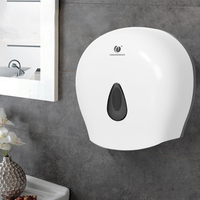 Wall Mounted Bathroom Rest Room Waterproof Toilet Roll Paper Tissue Box White Holder For Home Kitchen