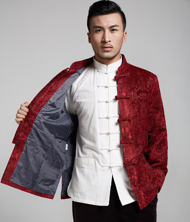 2016 New traditional chinese clothing for men tang suit tops thicken kung fu suits for men blouse jacket hanfu kungfu coat