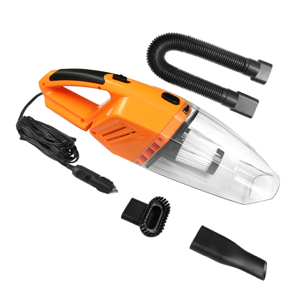 NOOX Car Vacuum Cleaner High Power Dust Buster Handheld Vac Pet Hair Crumbs Cleaner 120W 4.5 M Cord 12V Car Accessories