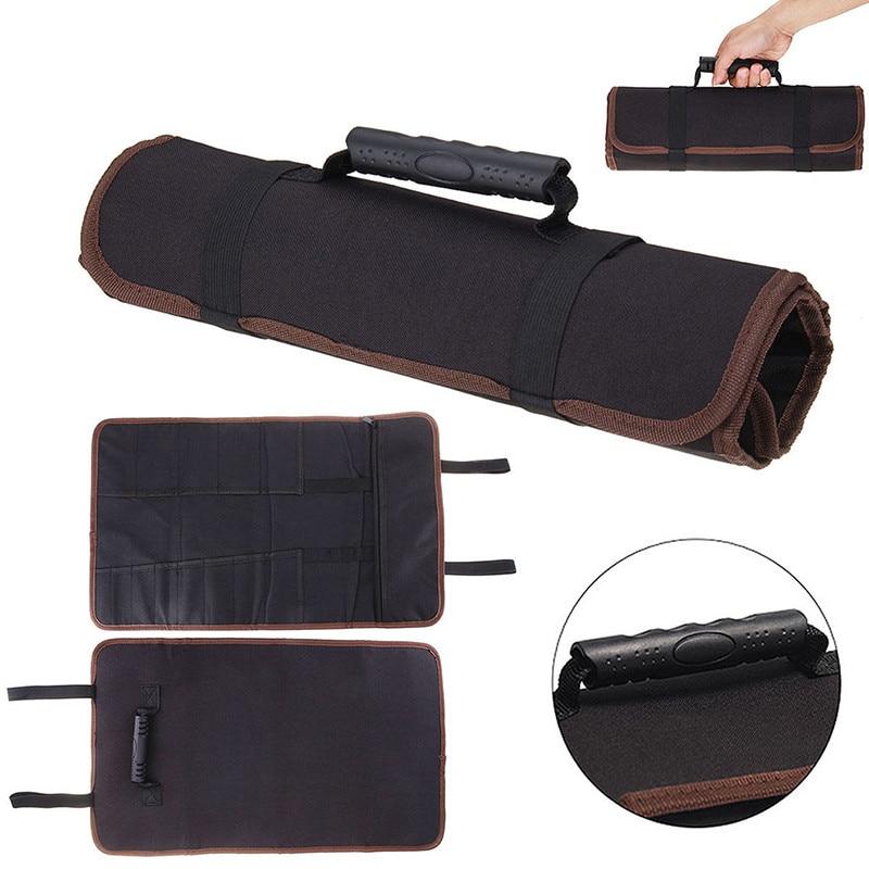 Chef Knife Bag Kitchen Cooking Portable Durable Storage Pockets Black Blue Red Roll Bag Carry Case Bag