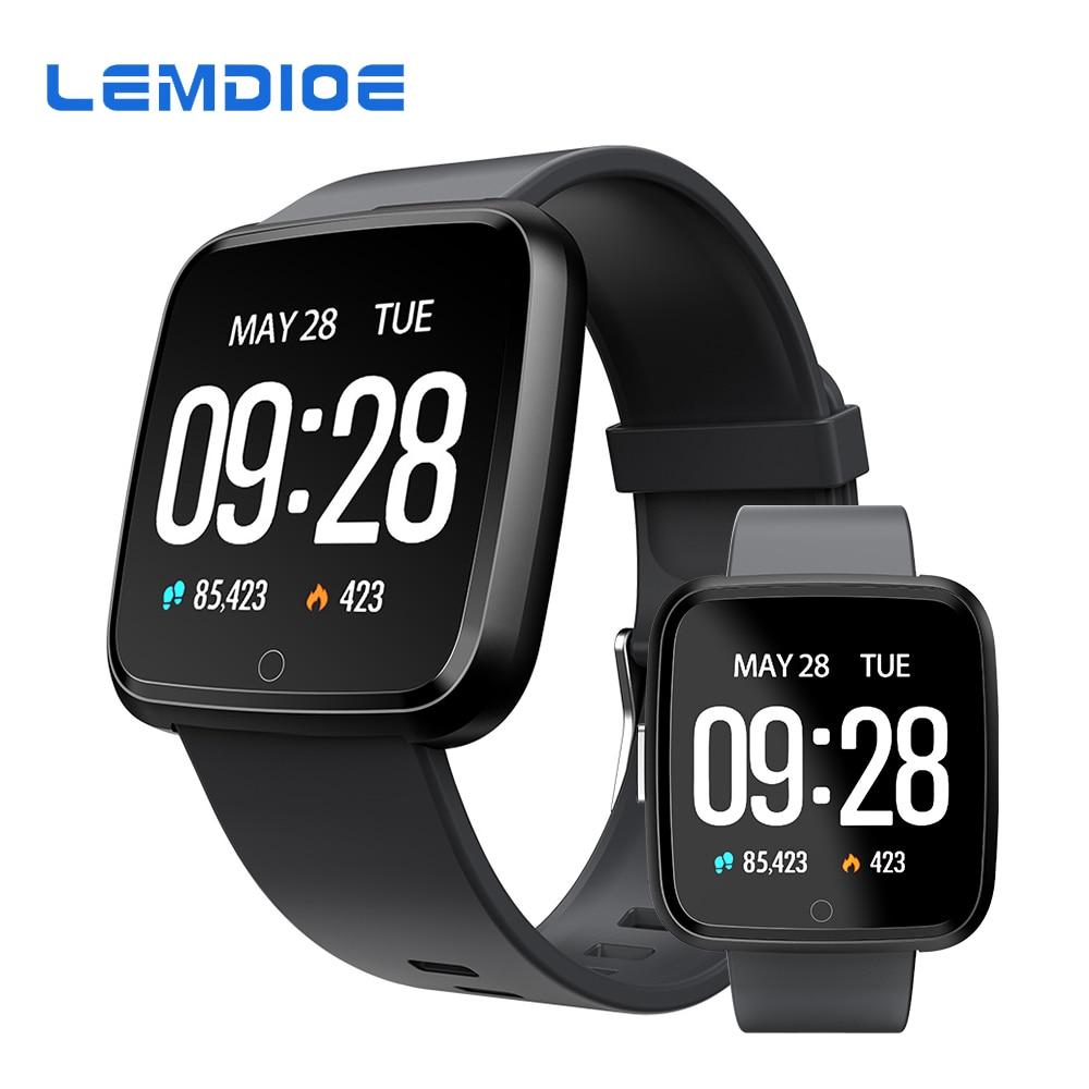 LEMDIOE Sport Montre Smart Watch Étanche IP67 Fitness Bracelet Sang Pression D'oxygène Activité Tracker Hommes Femmes Pour Android IOS