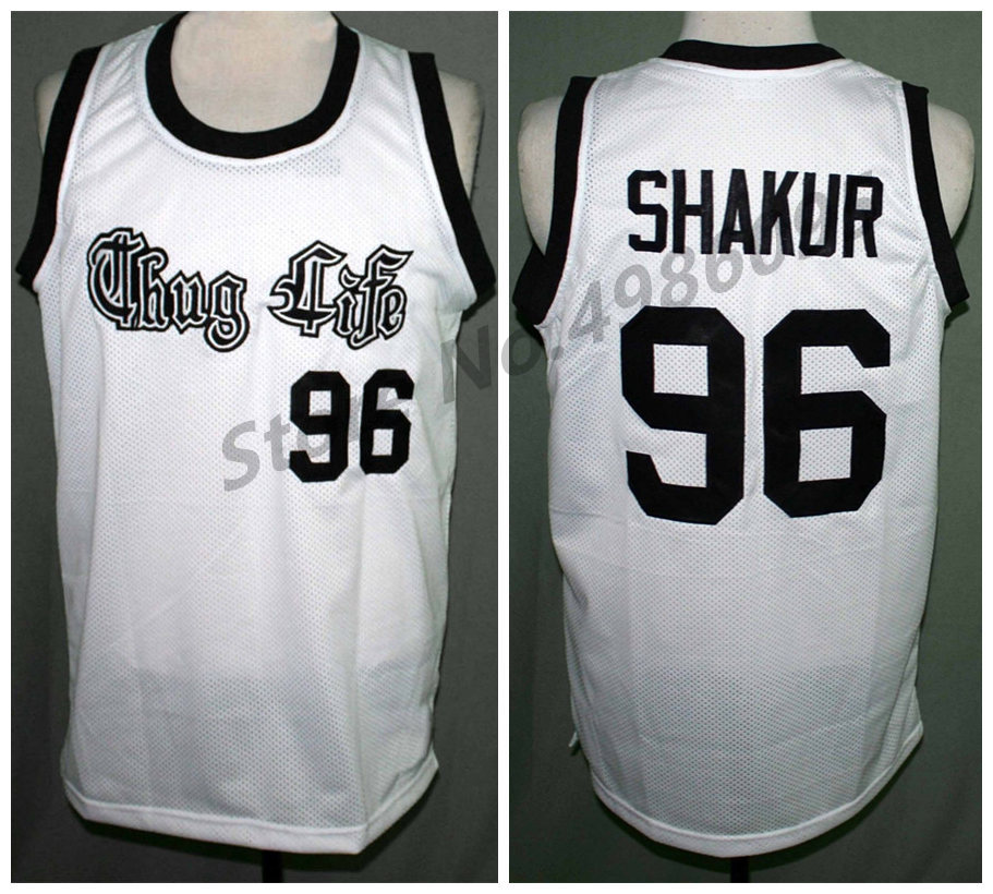 #96 Tupac Shakur Thug Life 2pac Retro Basketball Jersey Mens Stitched Custom Any Number Name Jerseys Bracing Up The Whole System And Strengthening It