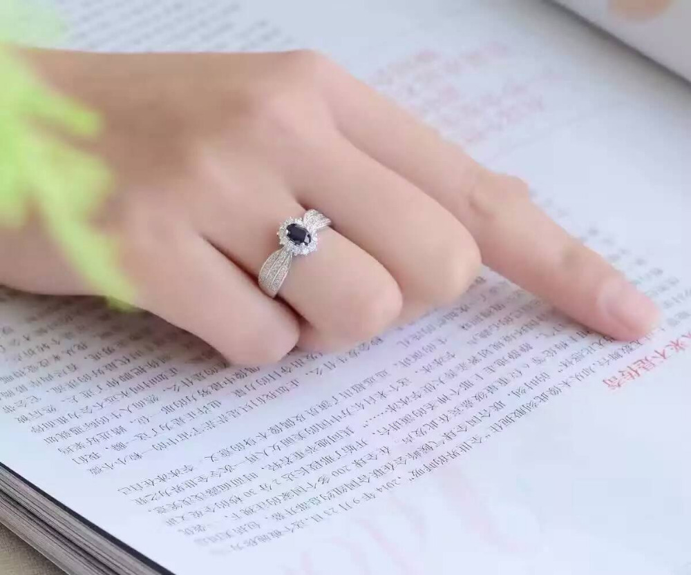 Aliexpress.com : Buy Natural dark blue sapphire gem Ring Natural ...