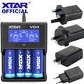 XTAR LCD Caricatore USB VC4 10440 16340 14500 14650 17670 18350 18490 18500 18700 26650 22650 20700 21700 18650 Batteria caricatore