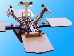 1 zestaw 4 kolor 4 stacji T shirt ekran maszyna drukarska bez podstawy dobrej jakości (wielu dziedzinach) Zestawy elektronarzędzi Narzędzia -