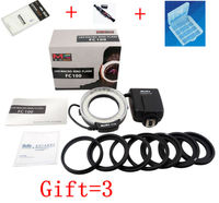 Meike FC-FC100 Của Nhãn Hiệu LED Macro Ring Flash Light với 7 Adapter Ring cho Canon Nikon Olympus Pentax Kỹ Thuật Số DSLR máy ảnh