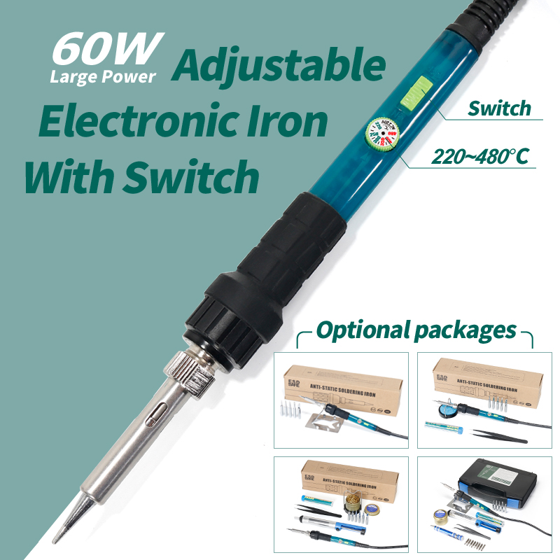 110V 220V Optional Welding Soldering Iron 60W YIHUA 947-III Set For Soldering Kit With Temperature Control Switch