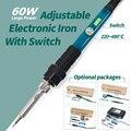 YIHUA 947-III 60 W de soldadura de hierro temperatura ajustable interruptor de hierro de la soldadura eléctrica 110 V/220 V, herramienta de soldadura