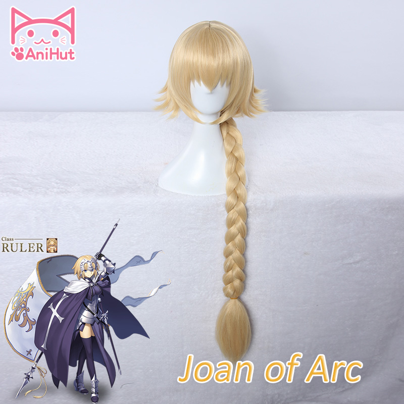 【AniHut】Joan Of Arc Wig Fate Grand Order Cosplay Wig Fate/Zero Hair Jeanne D'Arc Wig Blonde Hair
