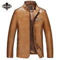 2017 New Warm Leather Coats Mens Leather Jackets and Coat Autumn and Winter Stand Casual Male PU Leather Motorcycle Clothing
