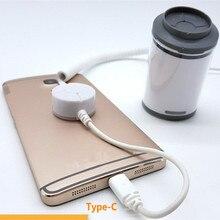 Смартфон магазине Secure Дисплей Держатель с зарядки белого цвета ABS Доставка компанией DHL air express