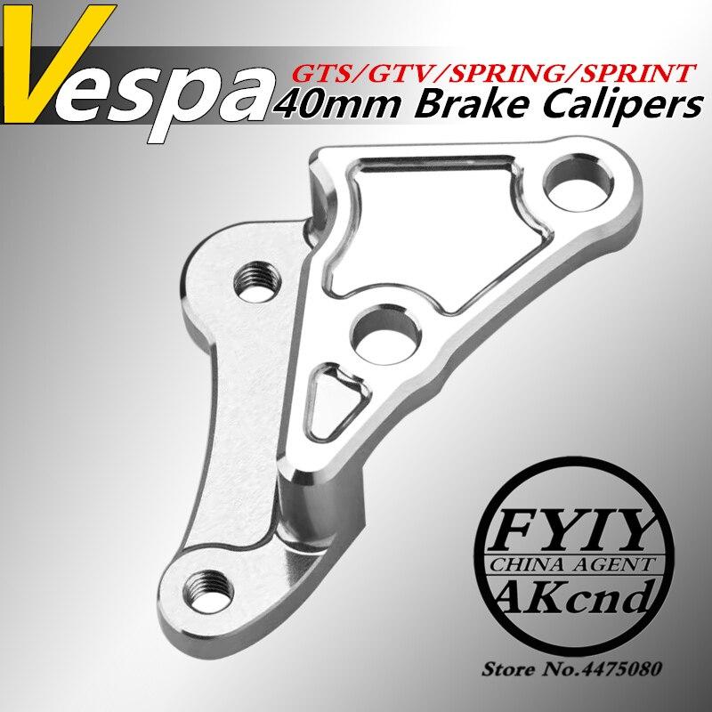 Motorcycle Aluminium alloy brake caliper bracket For piaggio vespa GTS/GTV 300/946 sprint/spring 40mm brake caliper bracket-in Brake Shoe Sets from Automobiles & Motorcycles