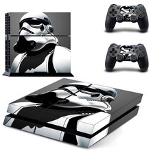 Star Wars PS4 Colorskin Sticker For Sony Playstation 4 PS4 Console protection film and 2Pcs Controller Protective Skins цена