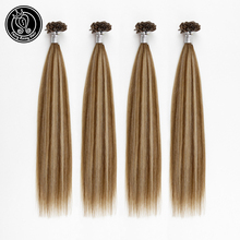 Fairy Remy Hair Pre Bonded Hair U Tip Extensions Balayage Colored Extensions 0.8g/s 40g Remy Human Fusion U Tip Hair Extensions