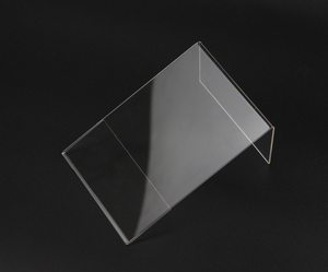 Image 3 - חדש 10 יח\חבילה באיכות גבוהה ברור 6x9cm L צורת אקריליק שולחן סימן מחיר תג תווית תצוגת נייר קידום כרטיס מחזיק מעמד