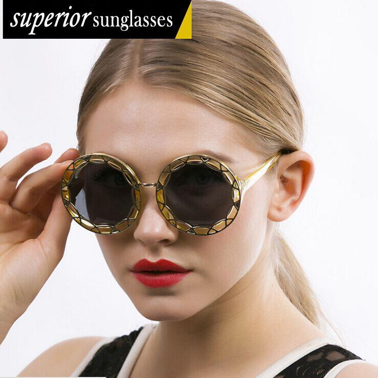 Sunglasses For Fat Face  aliexpress com 2016 new metal openwork sunglasses fashion
