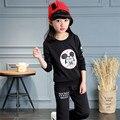 2 pcs Conjunto de Roupas de Lazer da Menina Primavera Pulôver e Calças Meninas terno para a Turnê de Primavera Menina Conjunto de Roupas para Crianças Criança Roupas