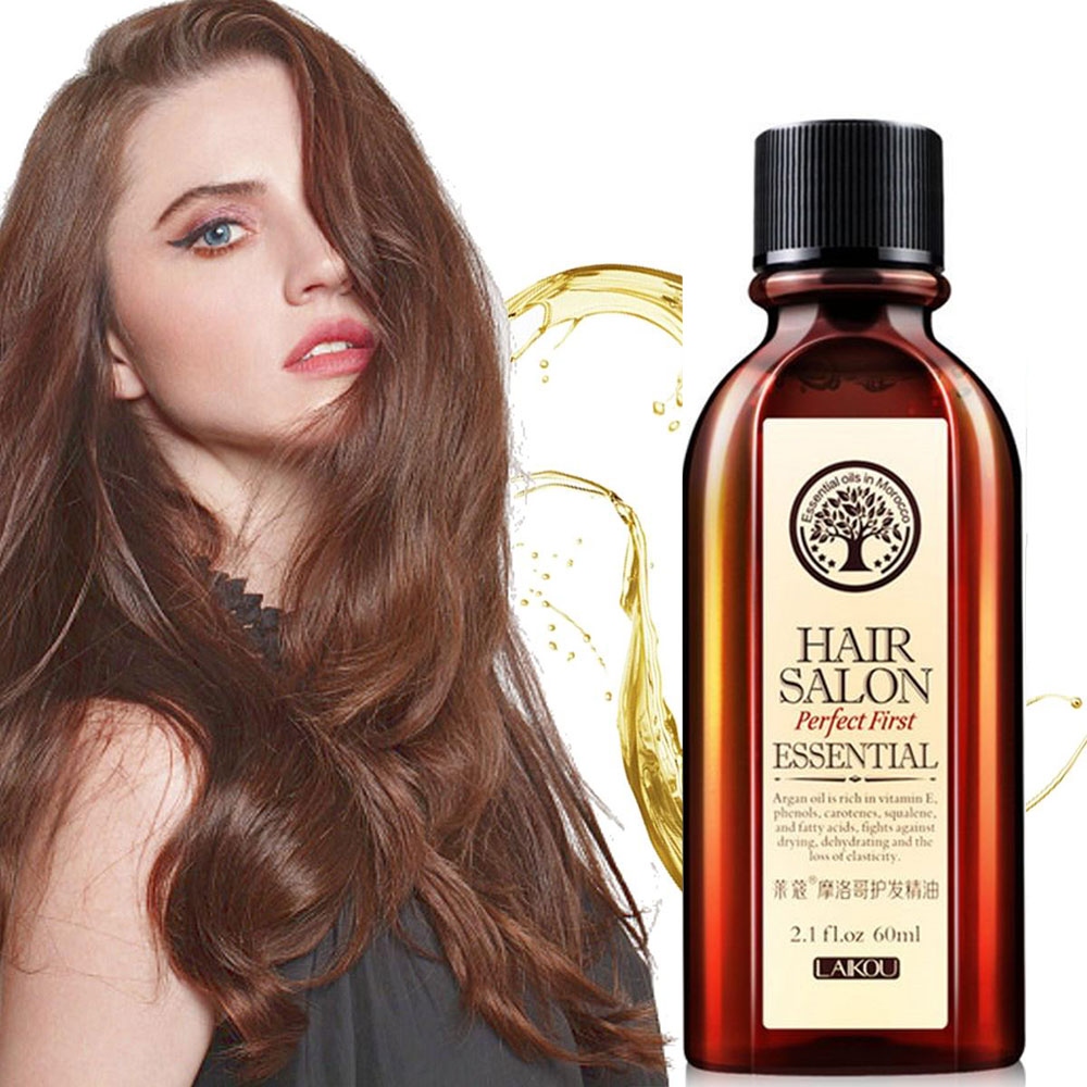 Moroccan Pure Argan Oil Hair Essential Oil For Dry Hair Types Hair & Scalp Treatment Multi-functional Hair Care Conditioner Mask
