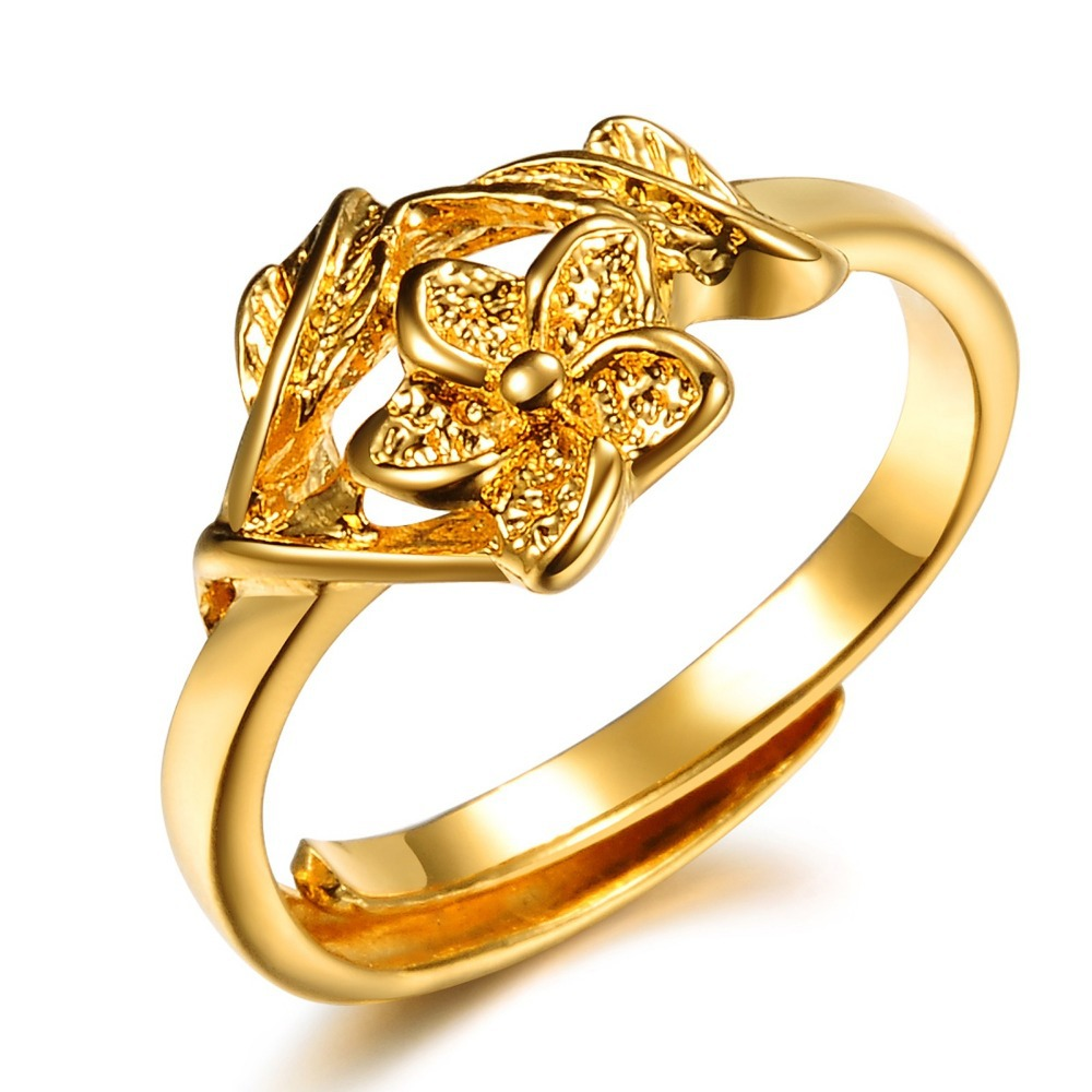 OPK JEWELRY promotion bridal jewelry 18K yellow gold plated flower