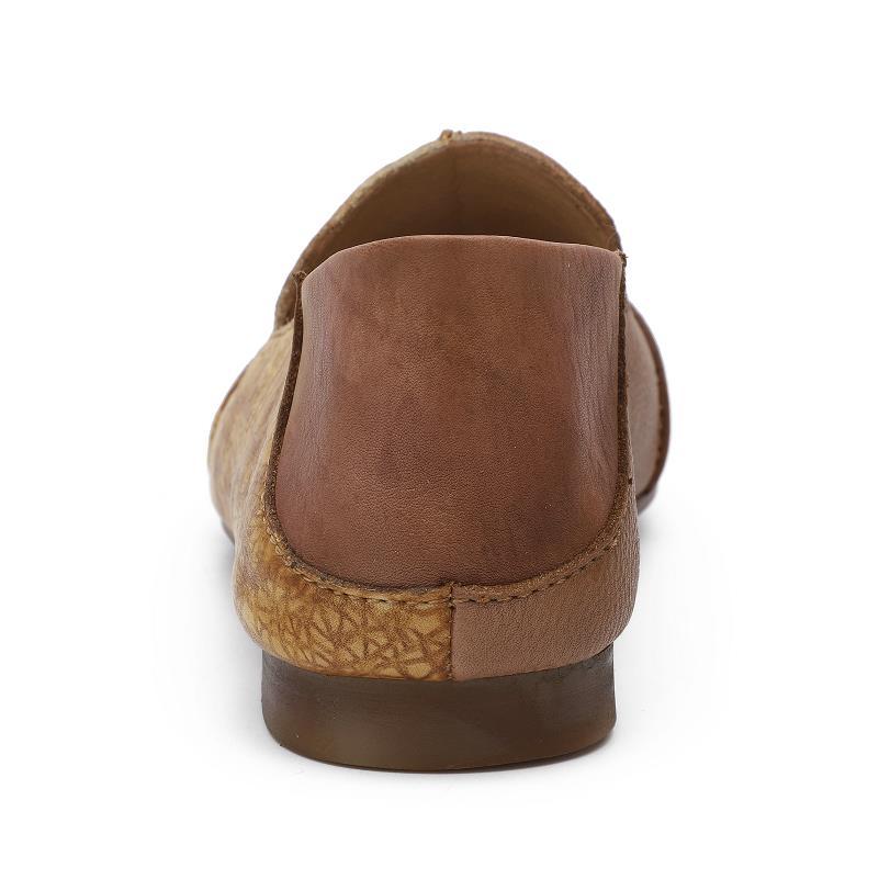 Automne Slip Sneaker sur La Cuir Printemps Rond Femmes Véritable Peu Bout Confortable Plats Chaussures Mocassins Plates Profonde Semelle Pour Respirant wqPwZR