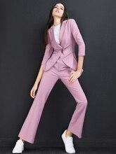 High quality women suits pants suit  Women Blazer Set Autumn Lady Business Office Work Uniform Elegant