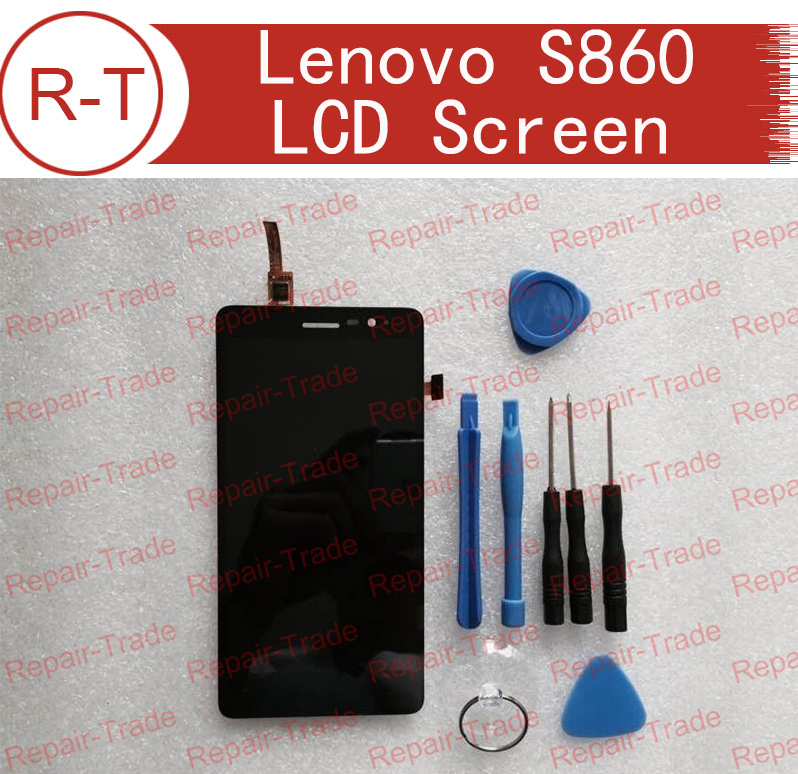 For Lenovo S860 LCD Screen Repalcement High Quality LCD Display With Touch Panel For Lenovo S860 Mobile Phone Free Shipping