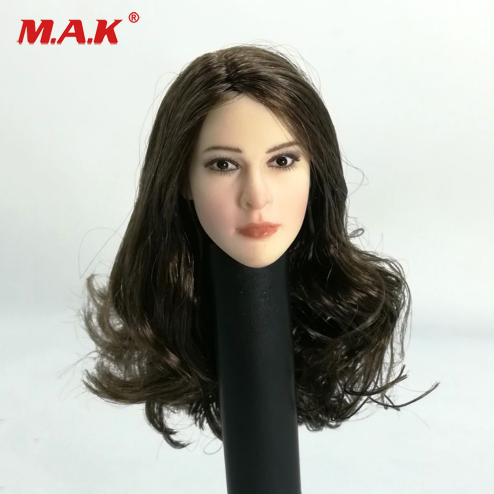 1/6 White House Agent Jenny Pale Carving Head Sculpt with plant curls Hair For 12'' Figure PH Body Figures