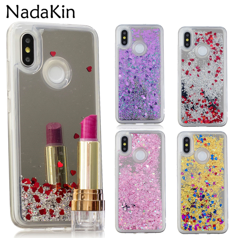 Responsible Bling Liquid Sand Back Case For Xiaomi Mi 8 Se Redmi 6 Note 5 Plus 4 4x Glitter Quicksand Cover Shell With Make Up Mirror To Have A Long Historical Standing Cellphones & Telecommunications