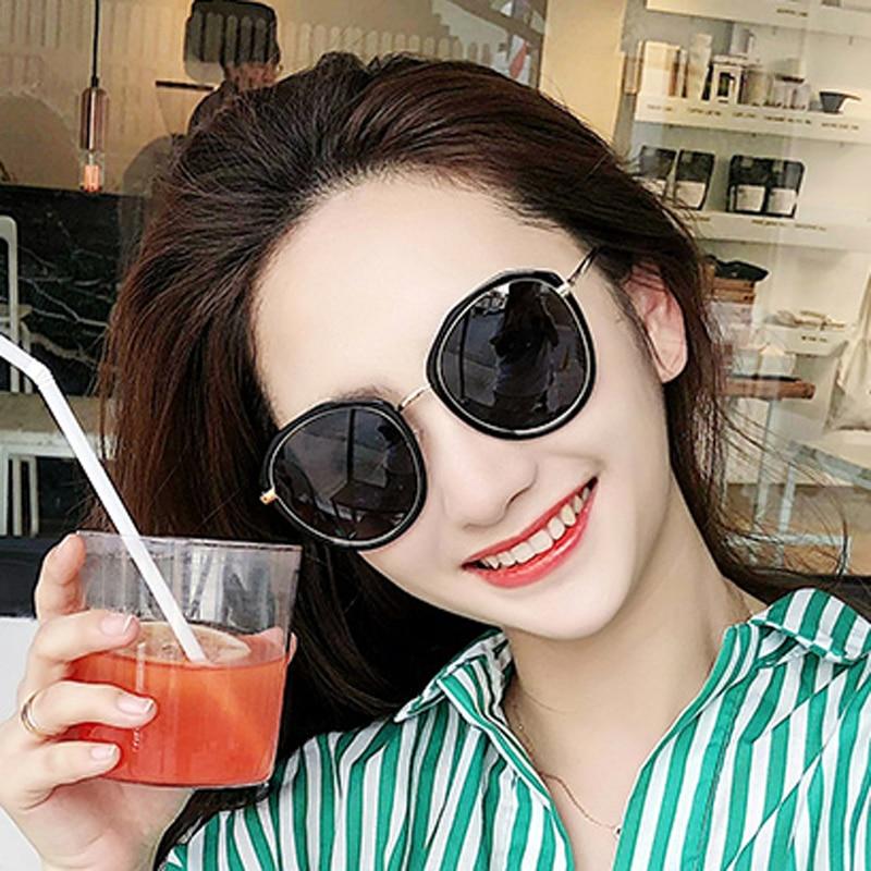 FEISHINI Protable UV Gradient Oval Sunglasses Women Transparent Clear 2018 Fashion High Quality Colored Unisex korea Glasses Men