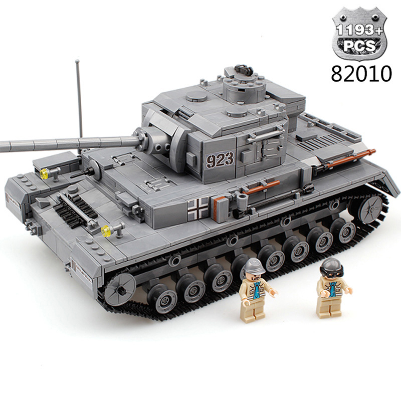 Military Weapon Building Blocks DIY Panzer War Tank Compatible Legoe Army World War Bricks Educational Toys For Child Xmas Gift war princess castle military weapon knight cannon large particle building blocks compatible with duplo diy bricks baby toys gift