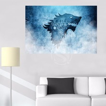 Stark Wolf Silk Canvas Poster